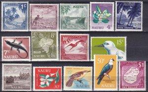 Nauru #58-71 MNH CV $6.55  (Z6255)