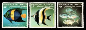 Djibouti Scott 521-523 Mint never hinged.