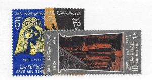 Egypt, 590-92, UNESCO Singles, **LH**