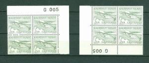 Greenland. 2 Mnh 1975 4-Plate Block  #  G 005  2 Kr  Narwhal  Engraver Cz Slania
