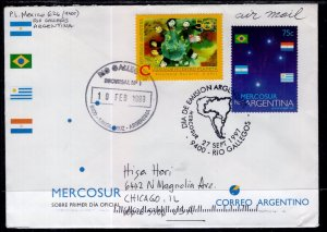 Argentina to Chicago,IL 1999 Airmail Cover