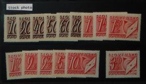 Slovakia J24-38. 1942 10h-10K Postage due, NH