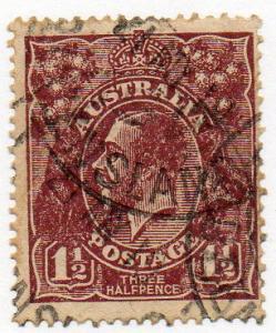 Australia  Scott 63a  Used