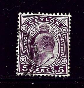 Ceylon 181 Used 1904 issue