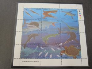St Vincent 1994 Sc 2048 Bird Dinosaurs fish set MNH