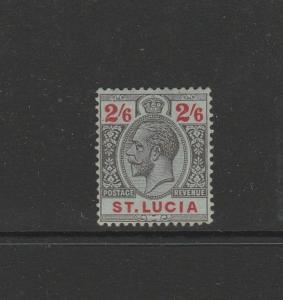 St Lucia 1912/21 Crown CA 2/6 MM SG 87