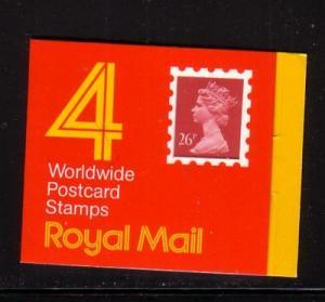 Great Britain Sc BK446 £1.04 26 p QE II stamp bklt