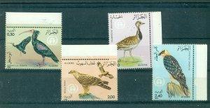 Algeria - Sc# 701-4. 1982 Birds. MNH $6.75.