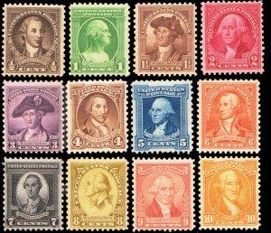 United States Scott 704-715 Mint never hinged.