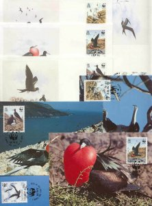 Ascension 8 FDC/cards WWF/Birds 1990