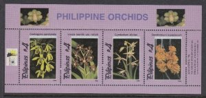 Philippines 2430 Orchids SS mnh