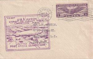 1932, USS Akron, Coast to Coast Trip, Lakehurst, NJ (41969)