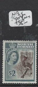 NORTH BORNEO  (PP0105B)   QEII  $2.00 BIRD  SG 404  MOG