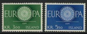 Iceland 327-8 MNH Europa