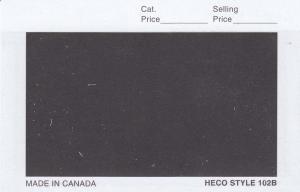 1000 - HECO #102 Stamp Dealer Window Display Cards Black (102B) 4 1/4 x 2 3/4