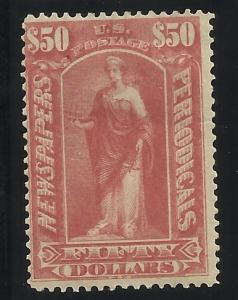 PR124  $50 Newspaper MHR F/VF See scan of back