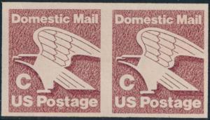 #1947a DOMESTIC MAIL C IMPERF PAIR MAJOR ERROR CV $850.00 HV2238