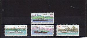 POLAND 1979  SHIPS SET OF 4 STAMPS MNH