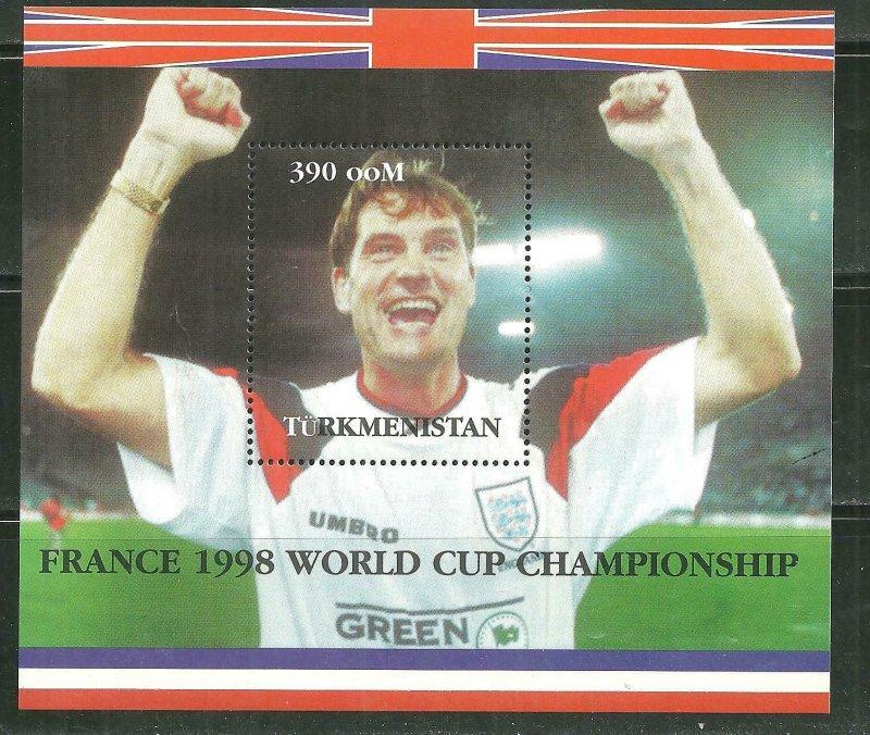 Turkmenistan MNH S/S France World Cup 1998