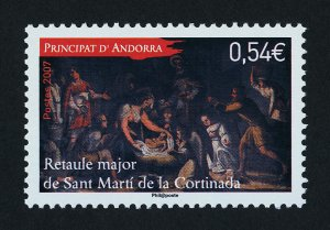 Andorra Fr 632 MNH Christmas, Retable, St Martin's Church