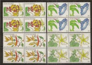 Suriname 1983 Flowers MNH Blocks