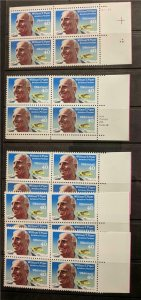 US Stamps #C132 Mint NH Blocks of scarce Piper Airmail, Plate Block, Zip Block +