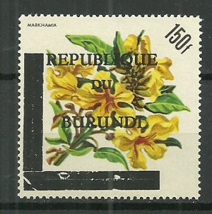 Scarce 1967 Burundi #173 150f with overprint SCV$11