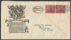 PLANTY #736-30 C.S. ANDERSON CACHET FDC BL7612