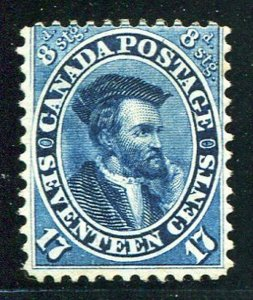Canada  #19   Unused F-VF  with.clean APS  certificate - Lakeshore Philatelics