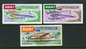 Guinea #C24-26 Fantastic and clean -nice (MINT   Hinged)  cv$71.00