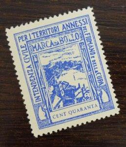 Fiume 1942 Croatia Italy Revenue Stamp CENT QUARANTA  C9