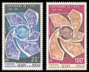 Afars and Issas 1974 Scott #374-375 Mint Never Hinged