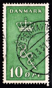 DENMARK Stamp 1929 Charity for the Danish Cancer Committee 10 + 5 Øre green $8
