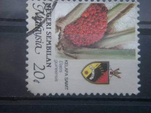 NEGRI SEMBILAN, 1986, used 20c, Agriculture Scott 104
