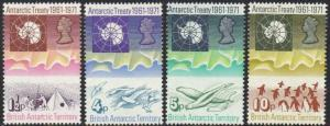 BRITISH ANTARCTIC TERRITORY 1971 Tenth Anniversary of Antarctic Treaty MH