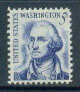 1283B 5c Washington Fine MNH Plt/4 LL 29357 F13290