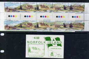 Booklet - Norfolk Island 1993 Tourism $4.50 booklet (2 se...