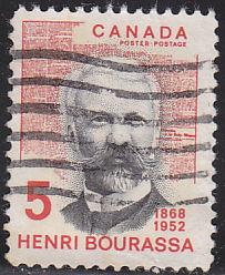 Canada 485 Hinged Used 1968 Bourassa & Le Devoir, Newspaper