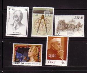 Ireland Sc 749-53 1989 anniversaries stamp set  mint NH