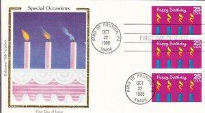 1988, Special Occasions-Happy Birthday, Colorano Silk, FDC (D15011)