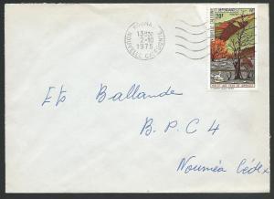 NEW CALEDONIA 1975 local cover KOUMA machine cancel........................12006