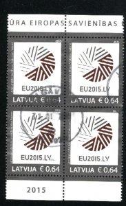 Latvia   Block   Used 2015 PD