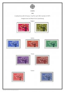 EUROPA CEPT  STAMP  PDF (DIGITAL)  ALBUM PAGES 1956-1994
