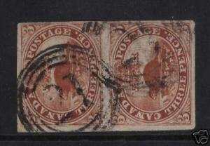 Canada #4c VF Used Pair **With Certificate**