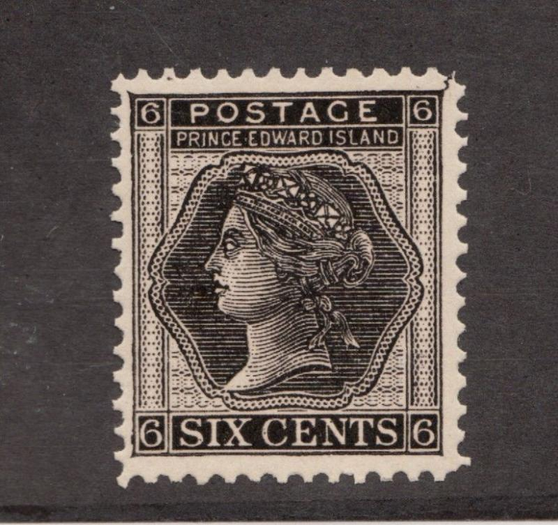 Prince Edward Island  #15 * MH, Queen Victoria, 6 cent postage stamp
