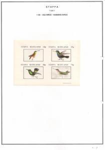SCOTLAND - STAFFA - 1981 - Humming Birds #1 - Imperf 4v Sheet - MLH