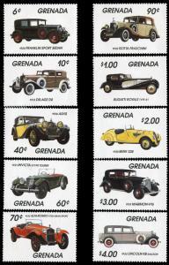 Grenada 1159-68 MNH - Various Automobiles