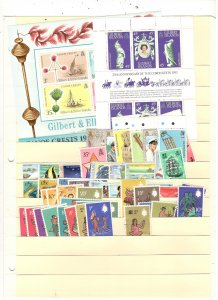 GILBERT ISLANDS COLLECTION ON STOCK SHEET, MINT/USED