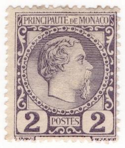 (I.B) Monaco Postal : Definitive Head 2c