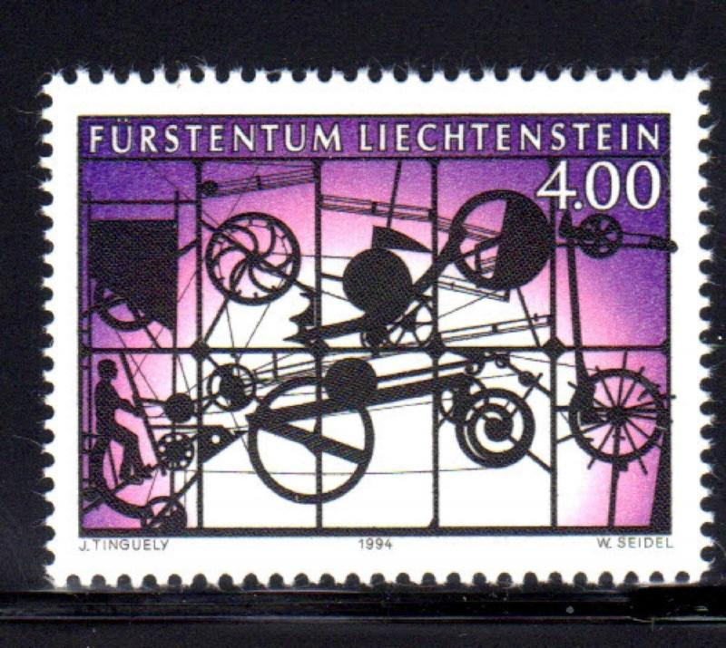 LIECHTENSTEIN #1024  1994 MOBILE BY TINGUELY  MINT  VF NH  O.G